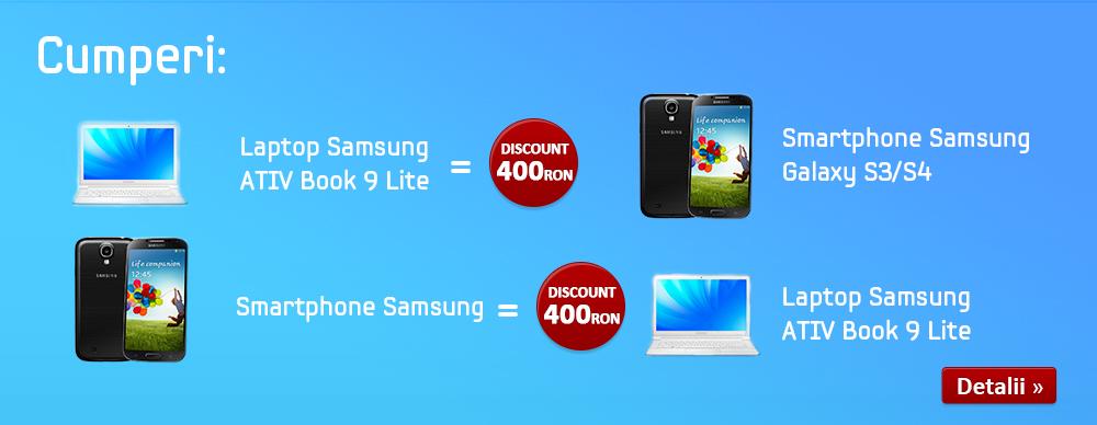 Samsung-Ativ-Lite-Book-evoMAG reducere 400 ron - voucher 400 - oferta speciala
