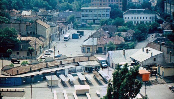 Vedere de ansamblu a Pieţei Cipariu