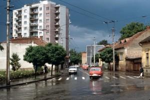 Primul bloc turn, din piaţa Cipariu (sursa: flikir.com)