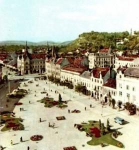 Piaţa Mihai Viteazul, în 1960(sursa: www.bjc.ro)