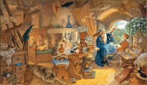 """Vrăjitorul Merlin în """"laborator"""""""