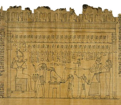 papirus egiptean scris
